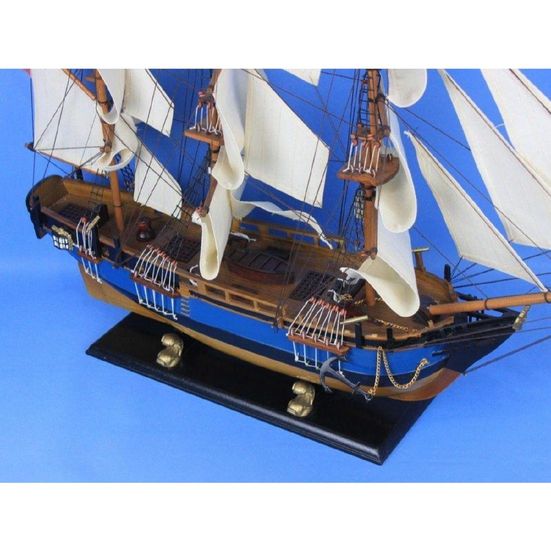 "Wooden HMS Bounty Tall Model Ship 34"" - 4"