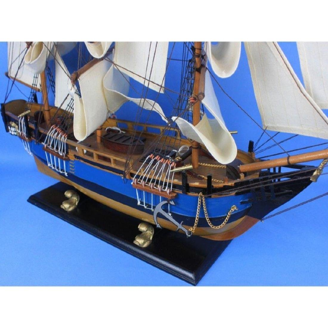 "Wooden HMS Bounty Tall Model Ship 34"" - 6"