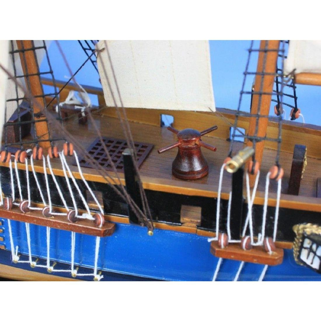 "Wooden HMS Bounty Tall Model Ship 34"" - 7"