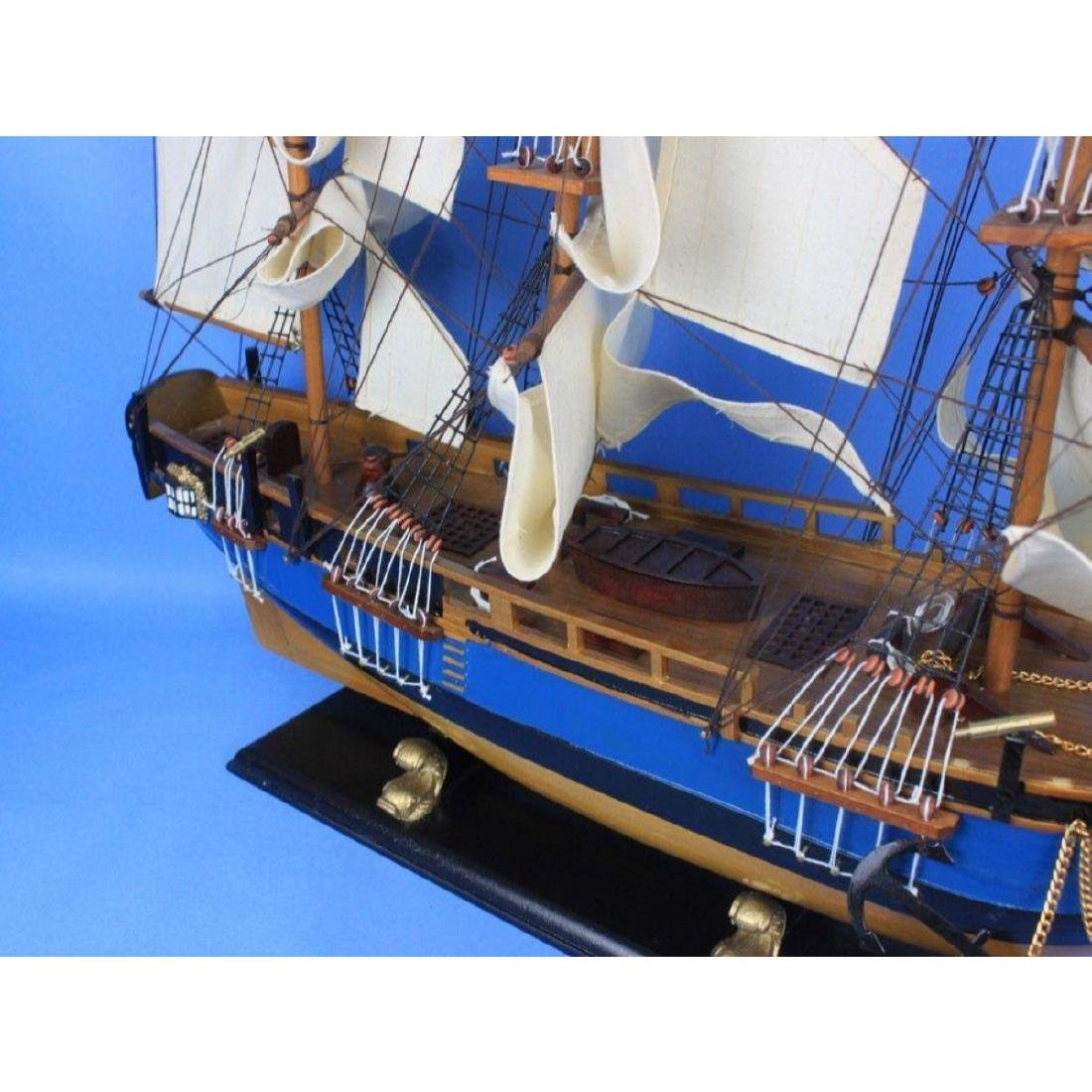 "Wooden HMS Bounty Tall Model Ship 34"" - 8"