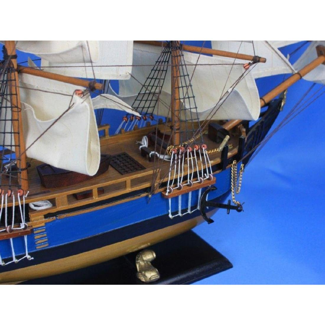 "Wooden HMS Bounty Tall Model Ship 34"" - 9"