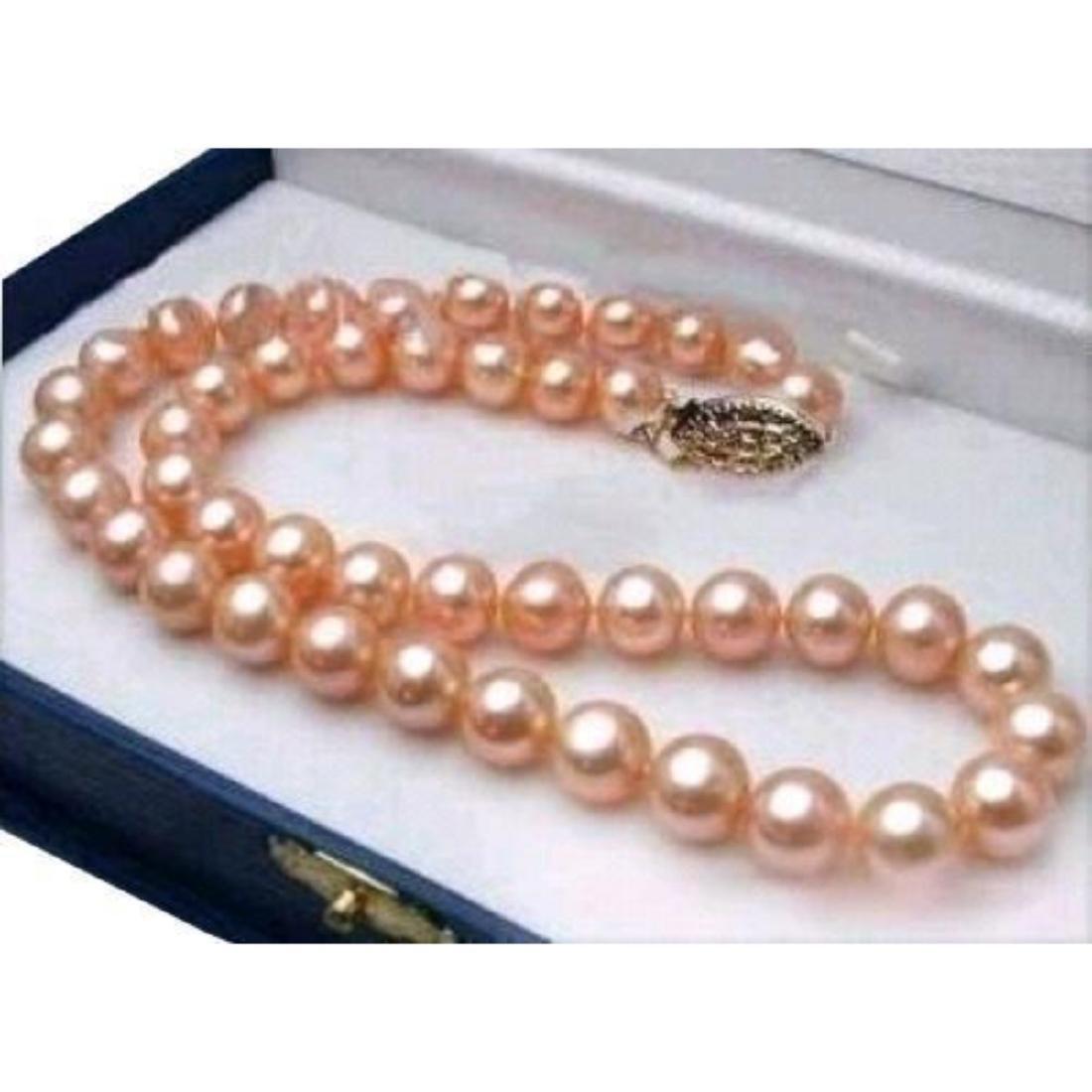 10-11mm Natural Pink Natural South Sea Pearls 14kt Gold