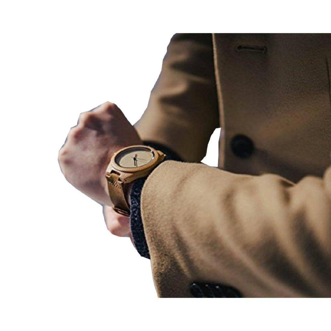 Cucol Wrist Watches Men's Bamboo Wooden With Brown - 6