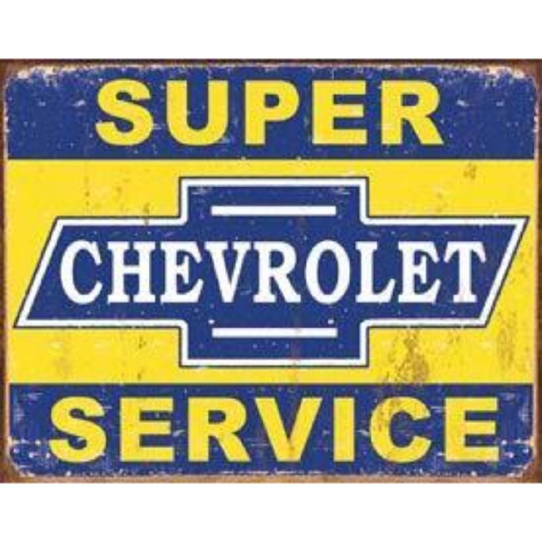 "Super Chevy Service 16""Wx12.5""H"