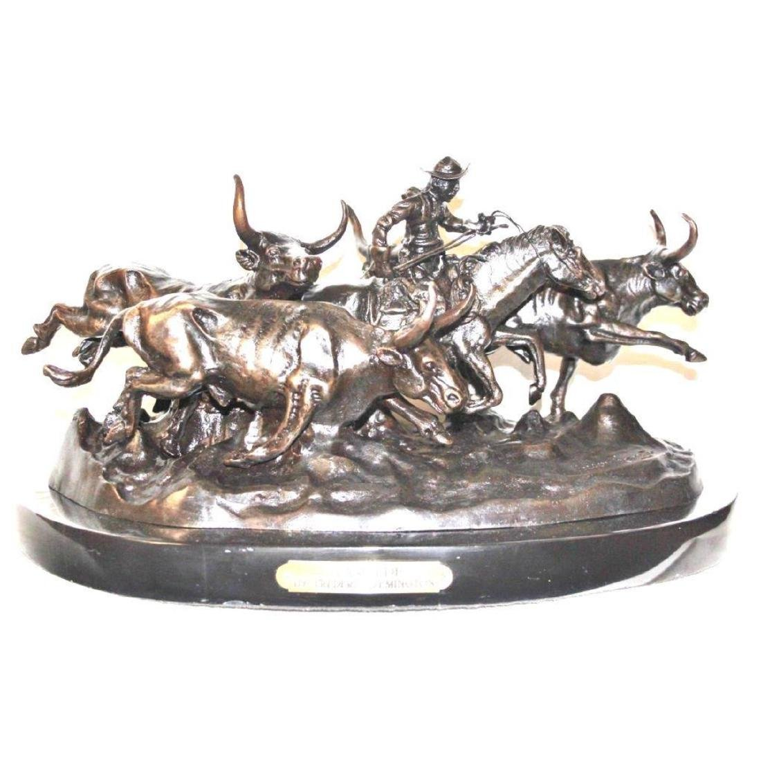 Stampede By Frederic Remington