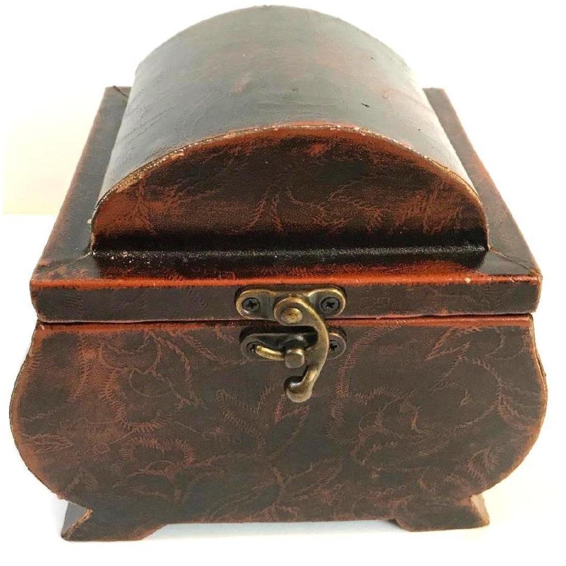 Leather Covered Tea Caddy