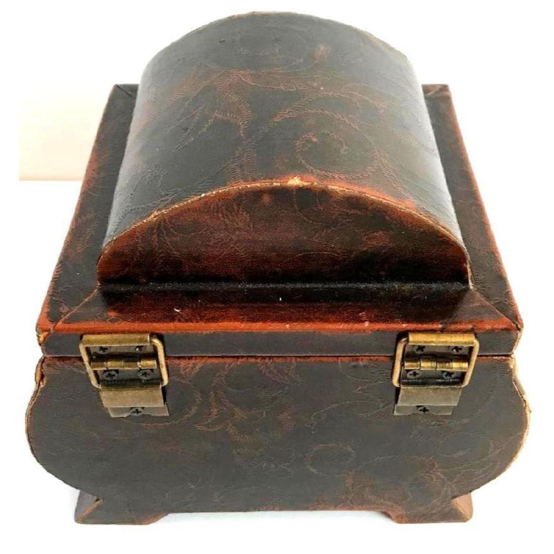 Leather Covered Tea Caddy - 2