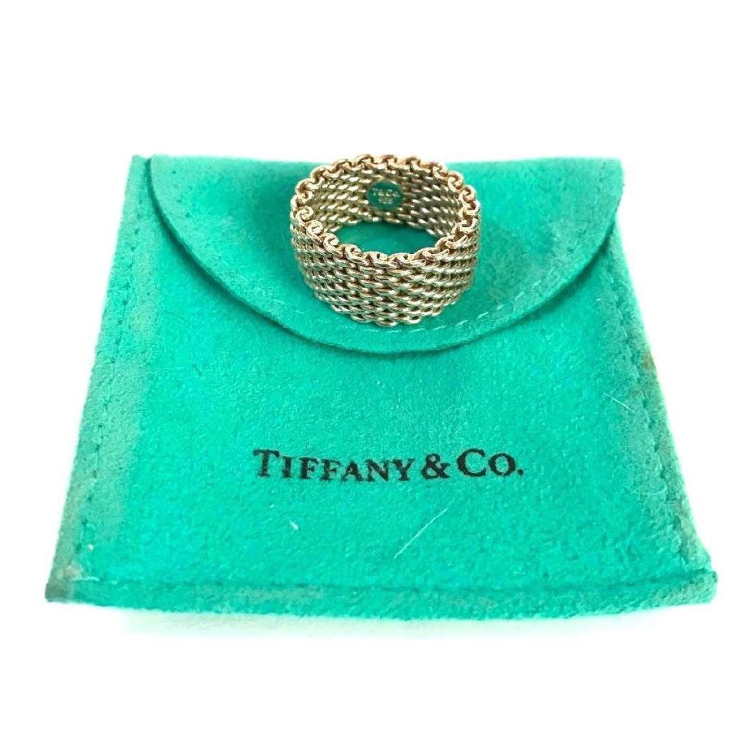 fe5418f11d988 Tiffany & Co Somerset Sterling Mesh Ring - Feb 23, 2019 ...