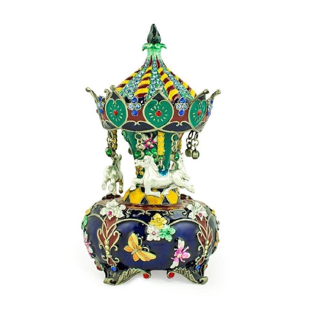 Jeweled Royal Inspired Russian Carousel Figurine 5.5