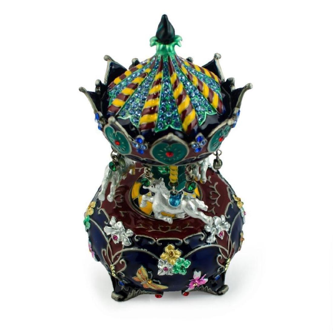 Jeweled Royal Inspired Russian Carousel Figurine 5.5 - 2