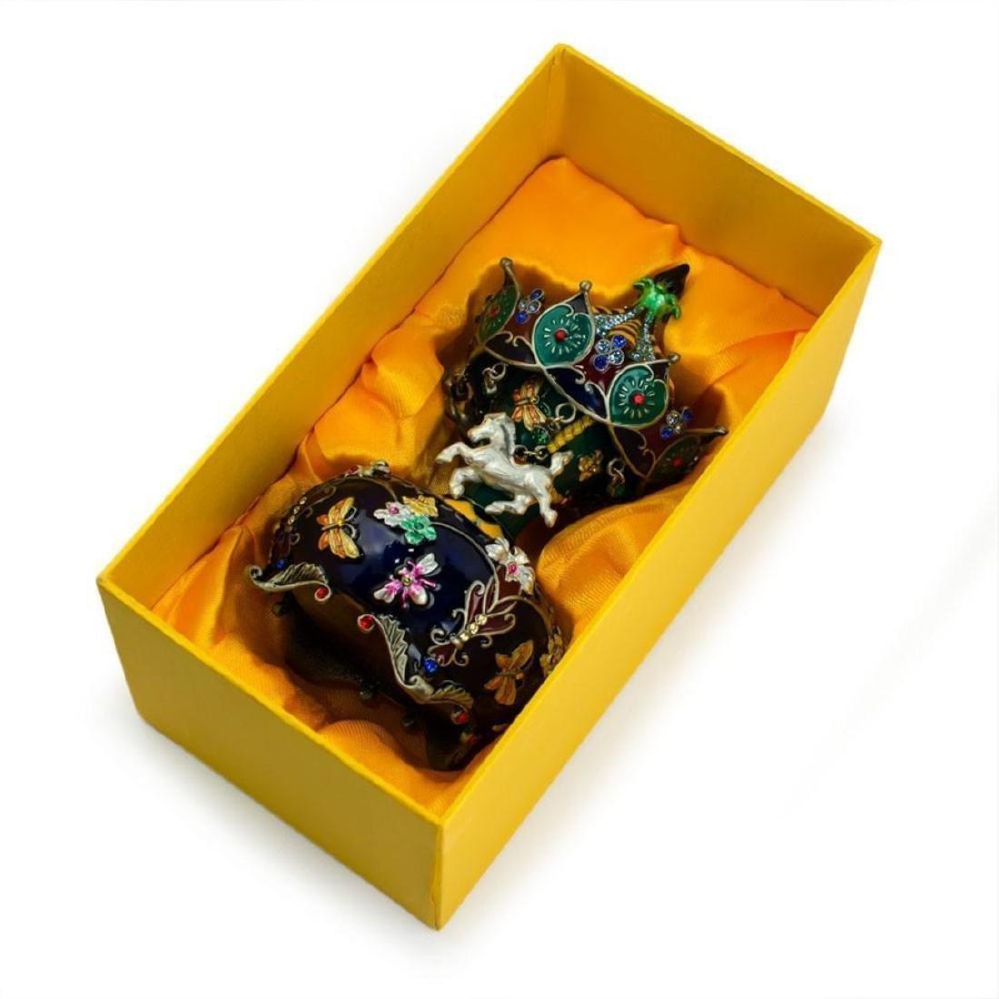 Jeweled Royal Inspired Russian Carousel Figurine 5.5 - 3