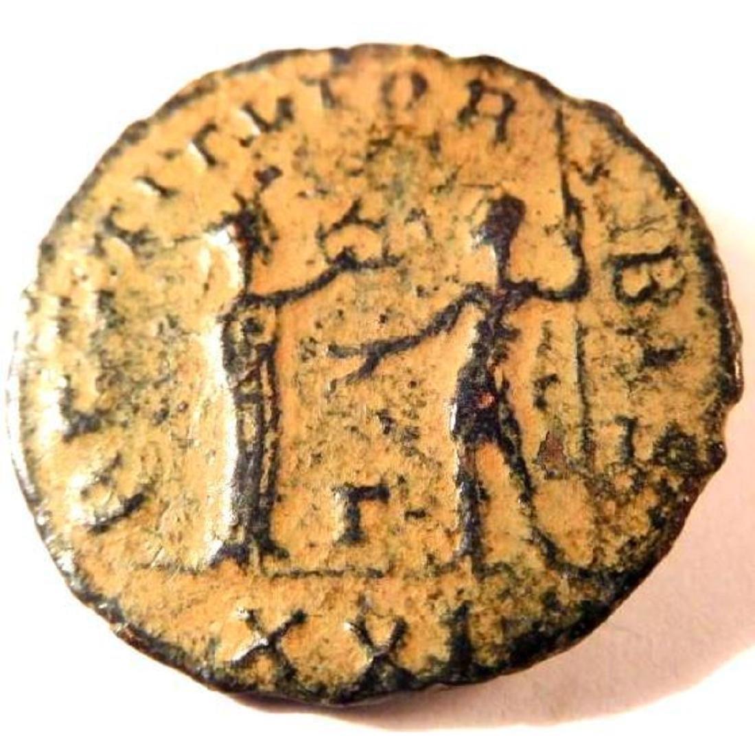 Bronze coin of Aurelian (270-275 A.D.)