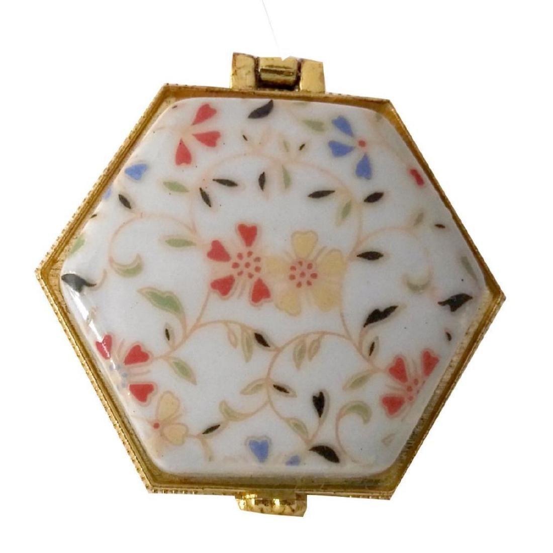 Spring Flowers Porcelain Jewel Trinket Box - 3