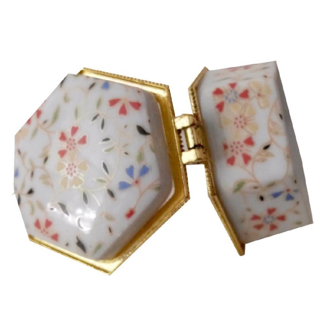 Spring Flowers Porcelain Jewel Trinket Box - 4
