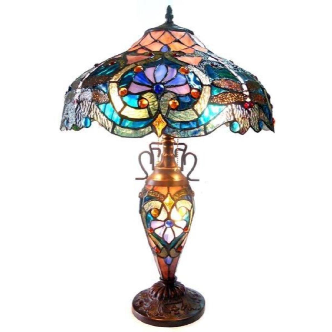 Tiffany-style Victorian Design Table Lamp