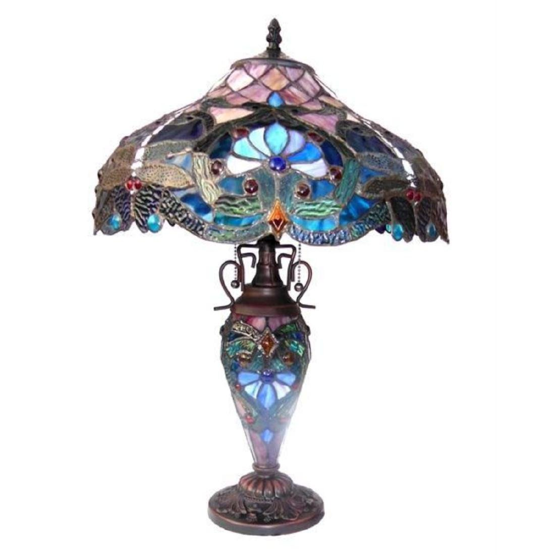 Tiffany-style Victorian Design Table Lamp - 2