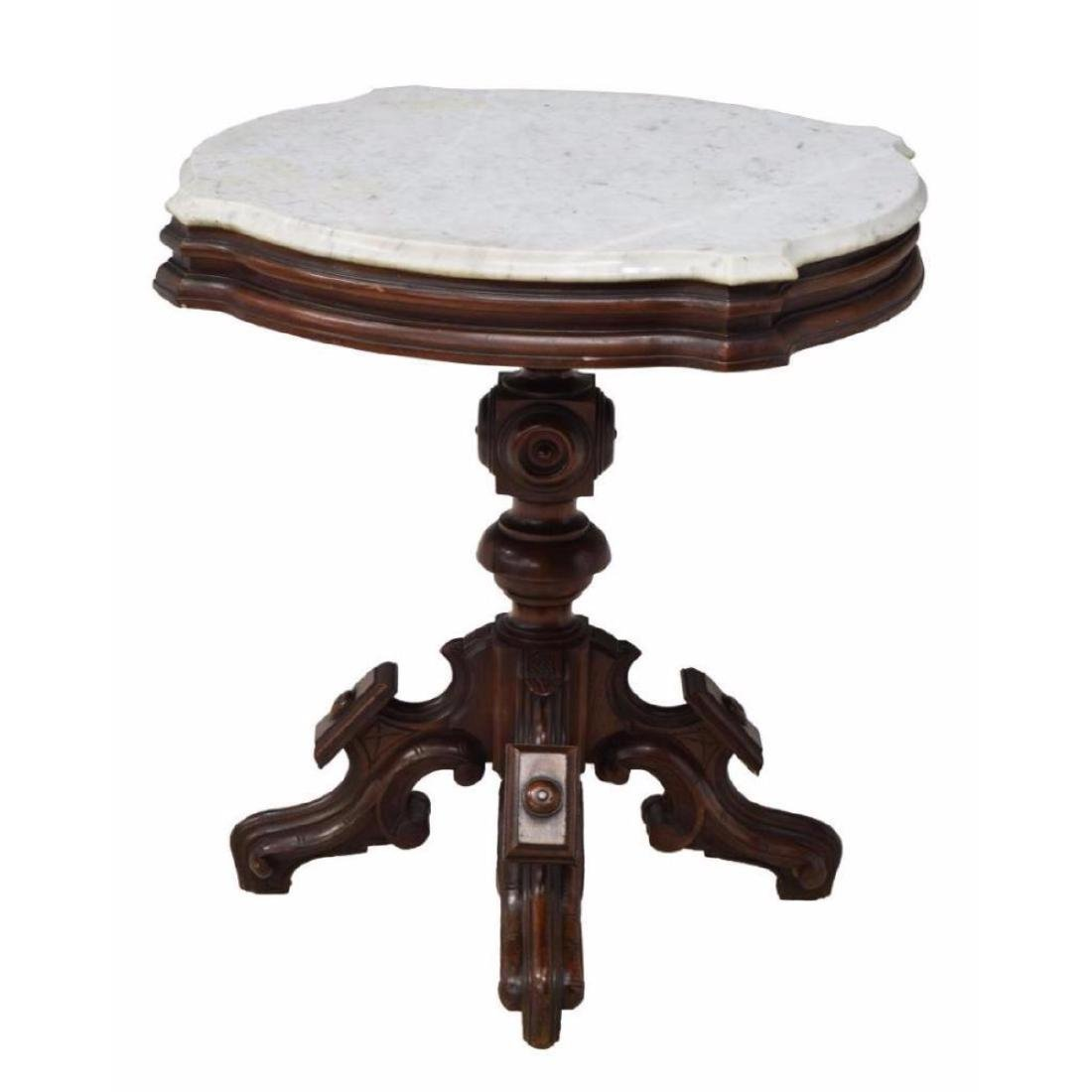 American Marble Top Parlor Or Lamp Table