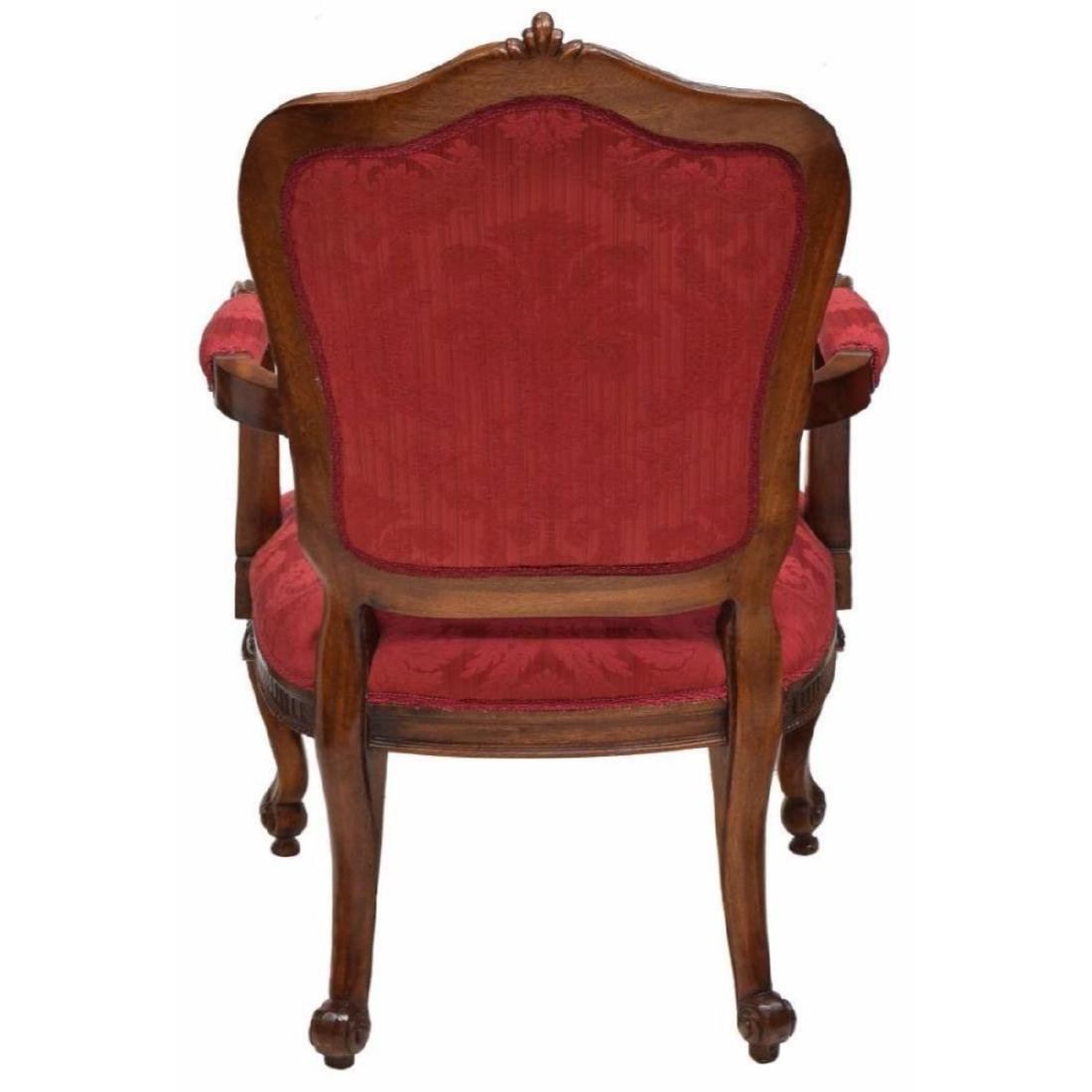 (4) Louis Xv Style Carved Back Arm Chairs - 4