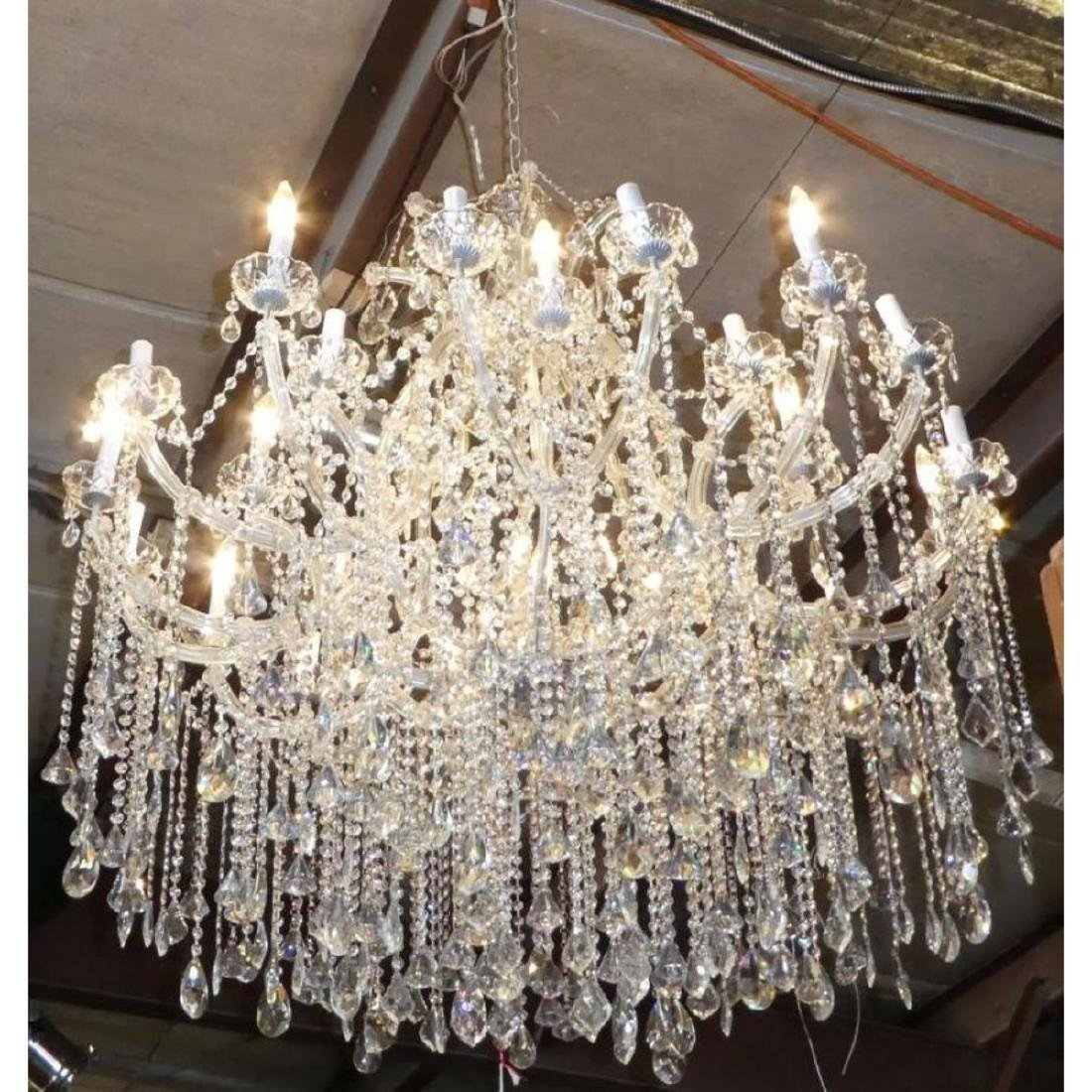 Maria Theresa Style Chandelier With Trailing Crystal