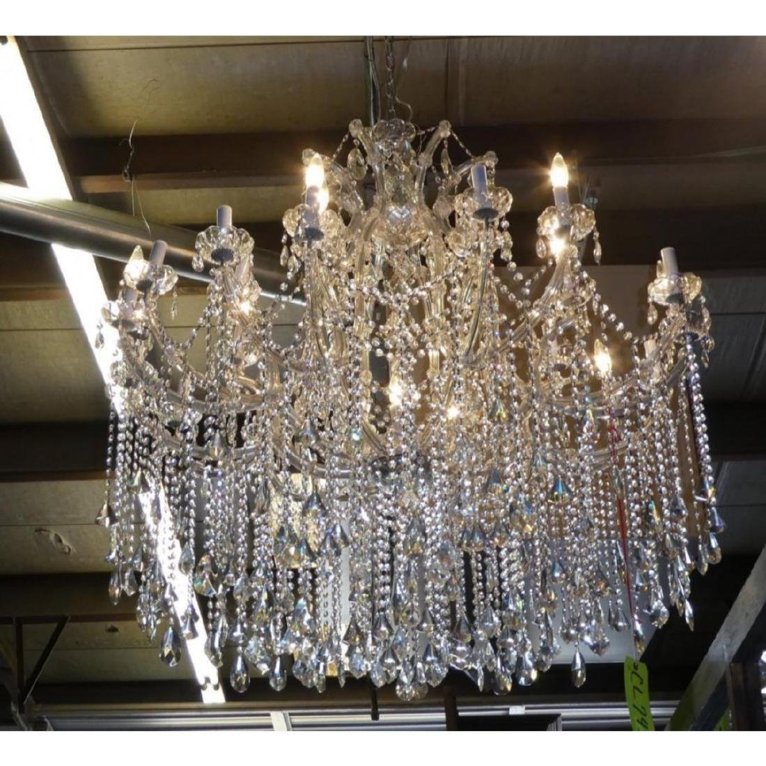 Maria Theresa Style Chandelier With Trailing Crystal - 2
