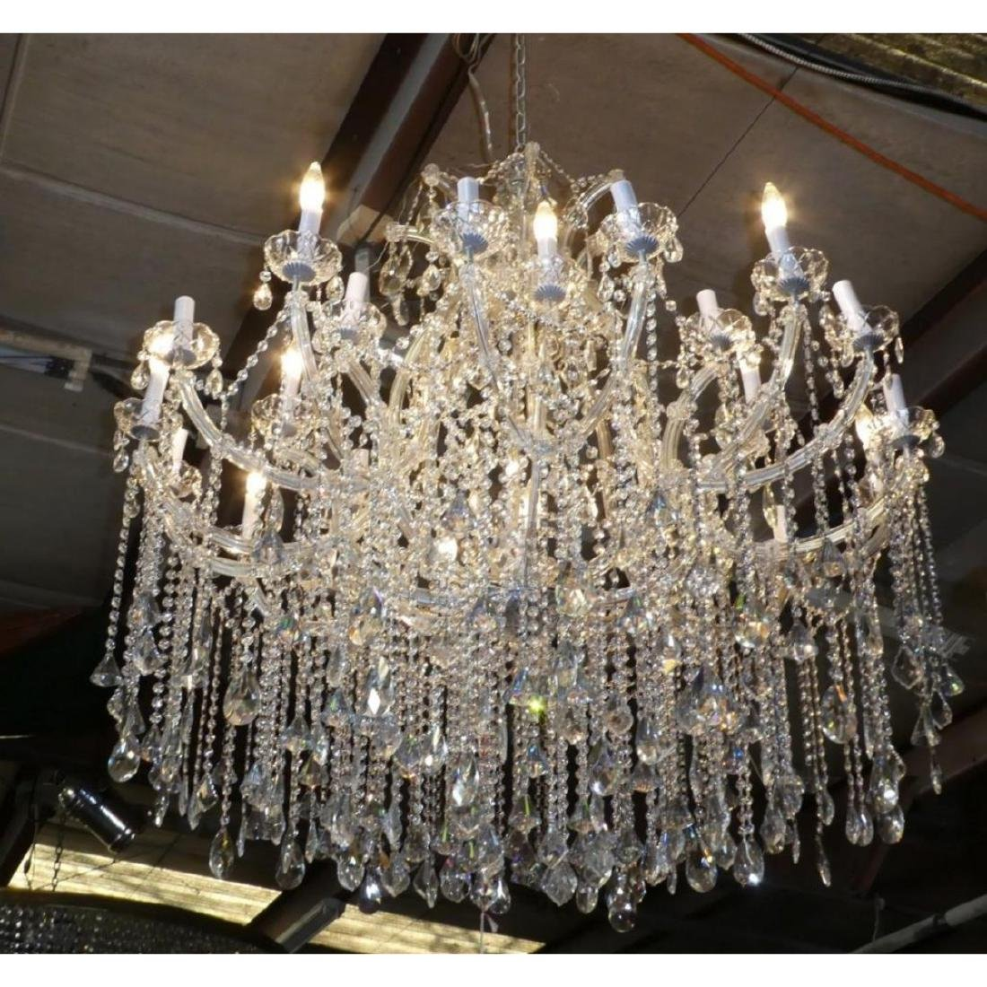 Maria Theresa Style Chandelier With Trailing Crystal - 3