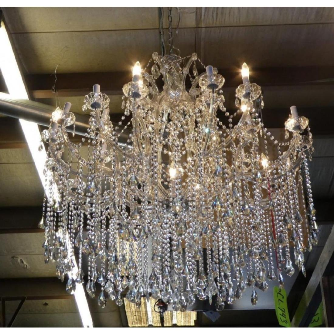 Maria Theresa Style Chandelier With Trailing Crystal - 5