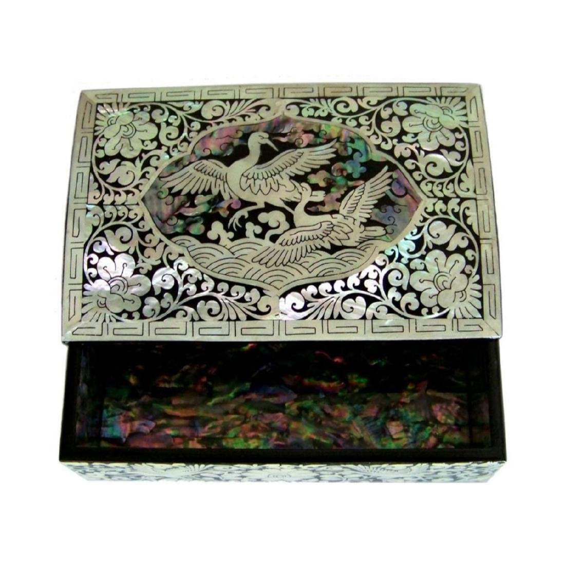 Mother Of Pearl Inlaid Box_ Lacquer Ware Inlaid