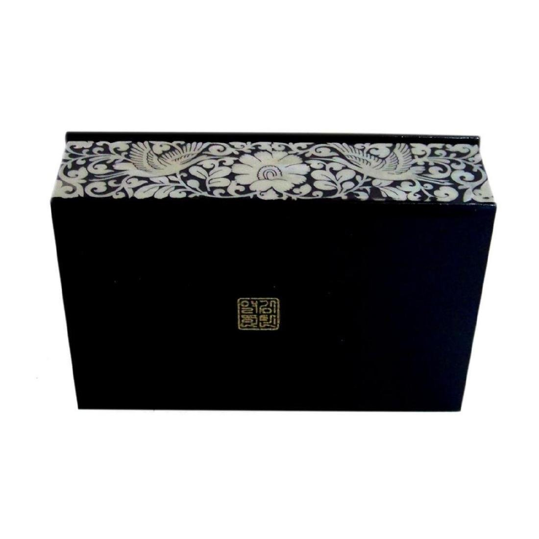 Mother Of Pearl Inlaid Box_ Lacquer Ware Inlaid - 4