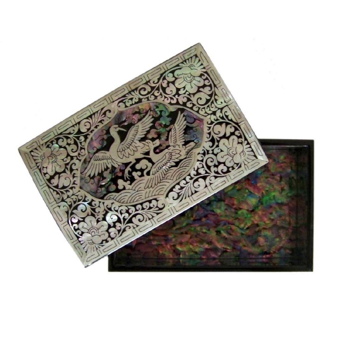 Mother Of Pearl Inlaid Box_ Lacquer Ware Inlaid - 5