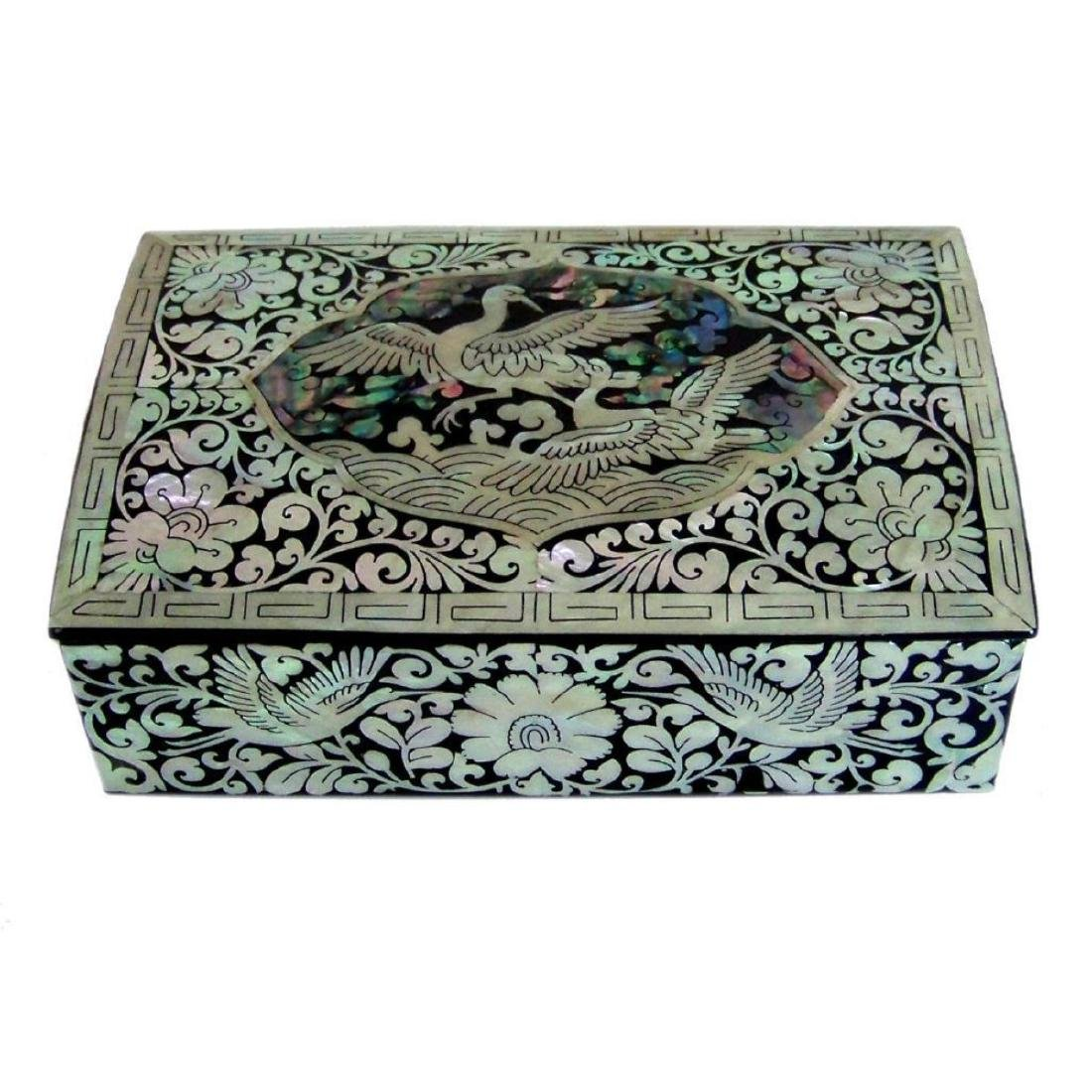 Mother Of Pearl Inlaid Box_ Lacquer Ware Inlaid - 7