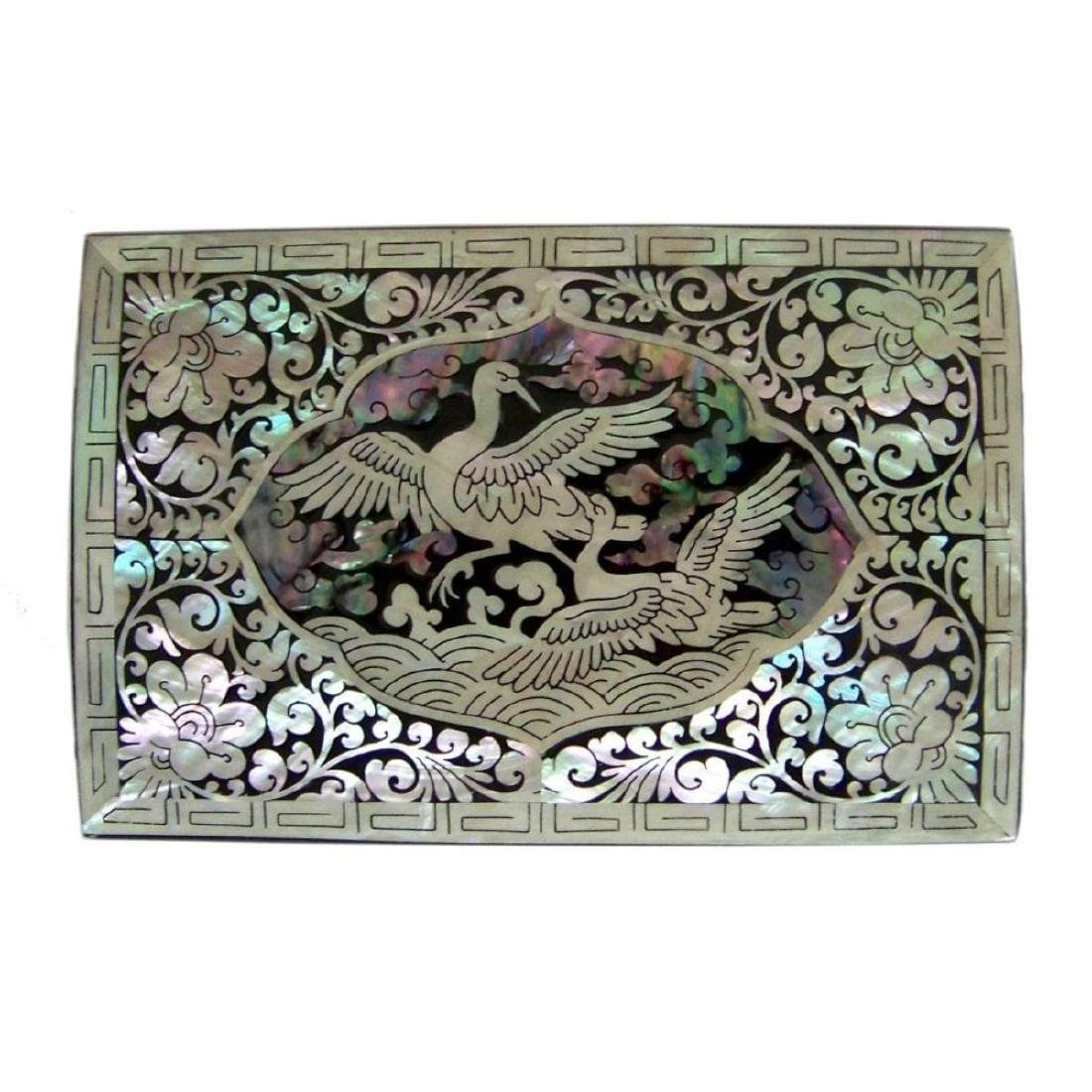 Mother Of Pearl Inlaid Box_ Lacquer Ware Inlaid - 9
