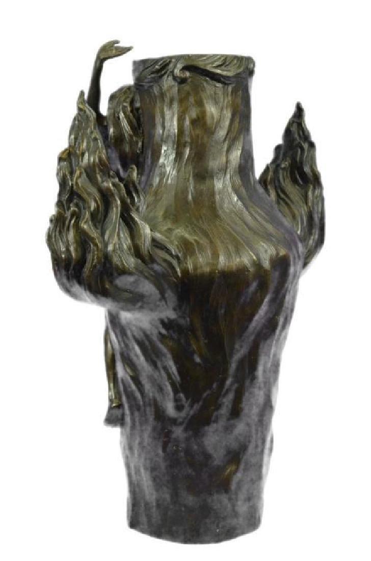 Genuine Bronze Metal Statue Nude Lady Girl Water Jug - 3