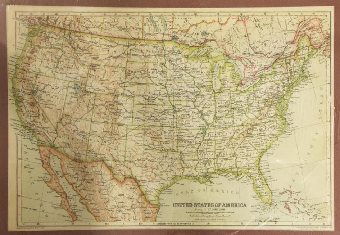 (2) United States & North America, 1910 Maps