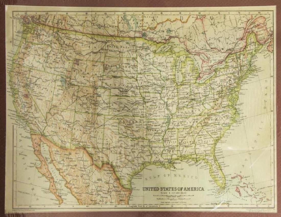(2) United States & North America, 1910 Maps - 6