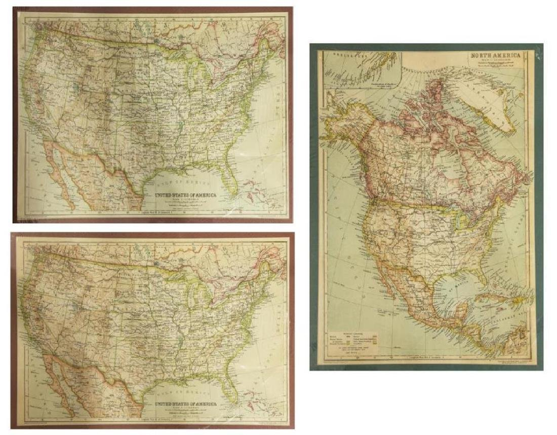 (2) United States & North America, 1910 Maps - 7