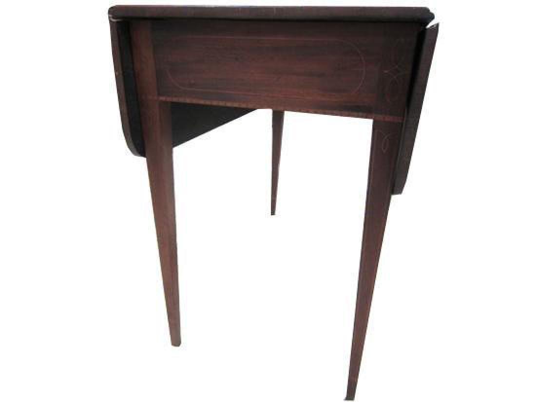 18thc Federal Inlaid Mahogany Pembroke Table - 3