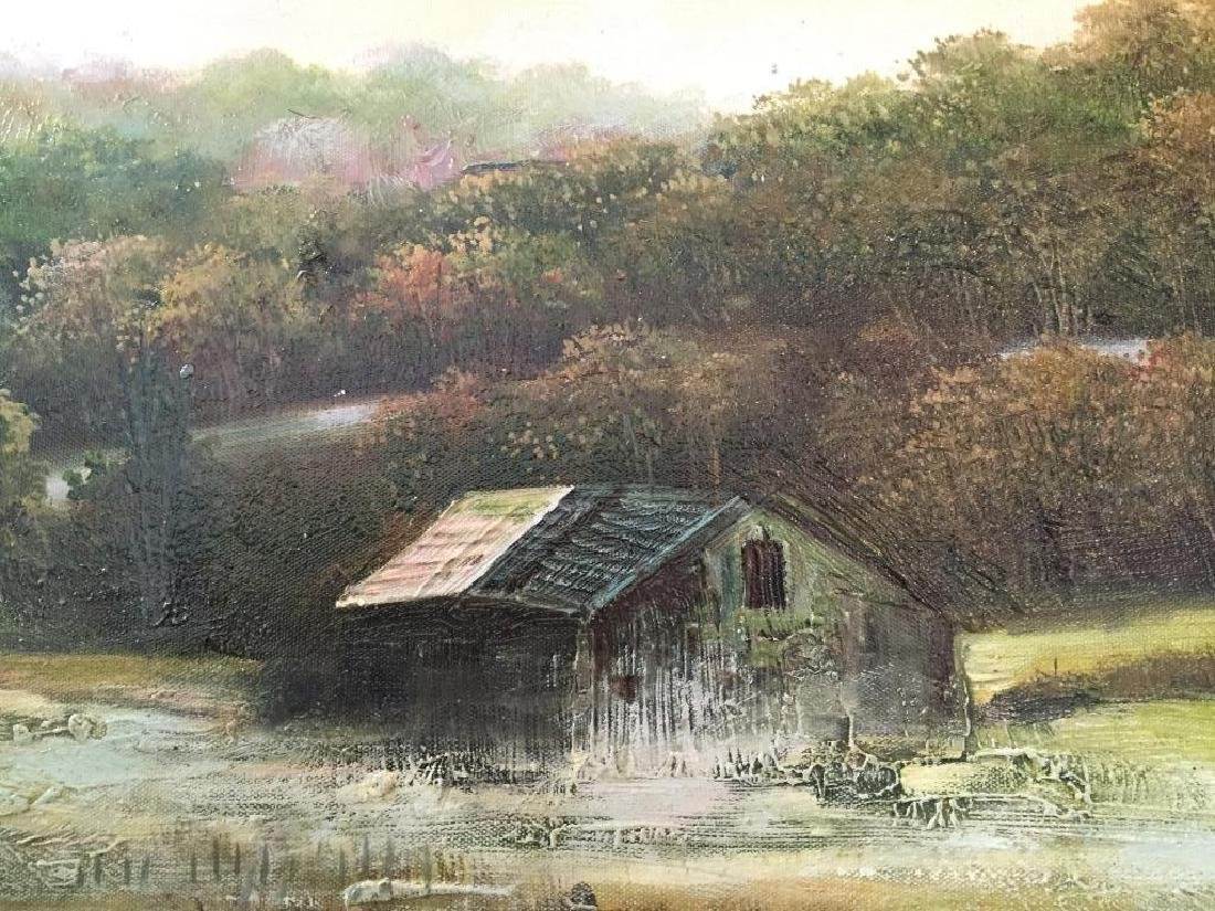 Oil on Canvas Painting, Rural Mountain Landscape - 2
