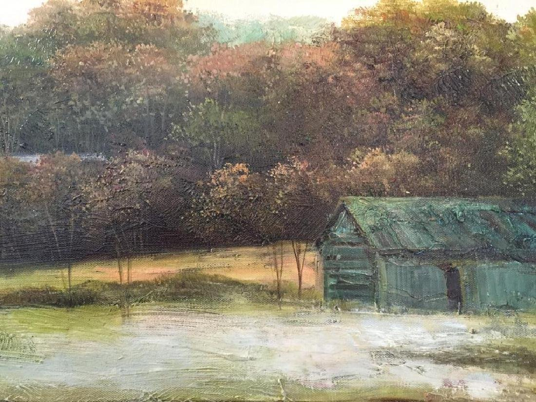 Oil on Canvas Painting, Rural Mountain Landscape - 3