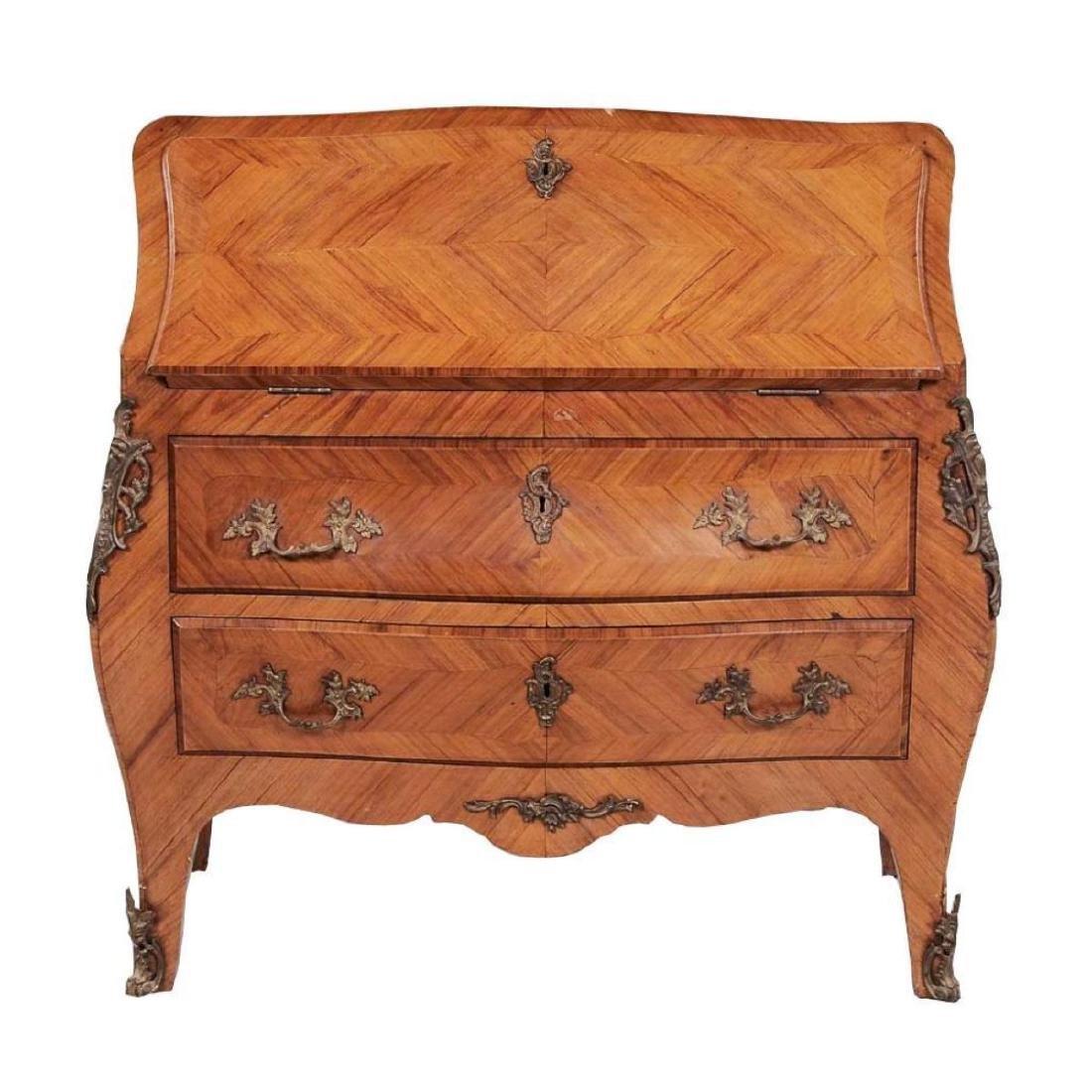 Louis XV-Style Parquetry Desk