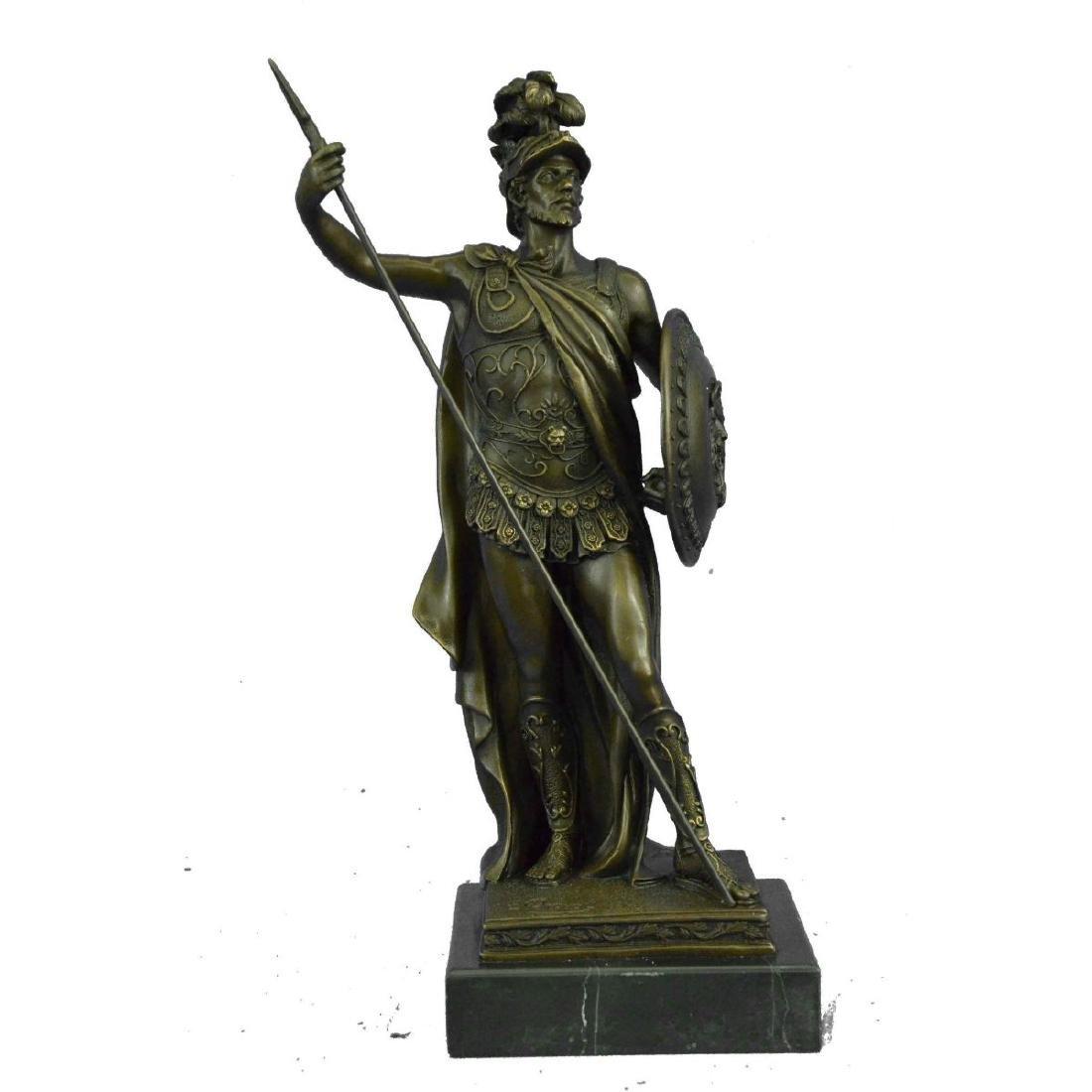 LEONIDAS of Sparta Greek Roman Hoplite Warrior Bronze