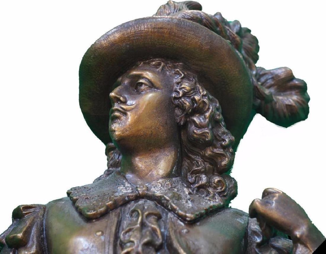 Magnificent, Monumental Cast Metal Conquistador Statue