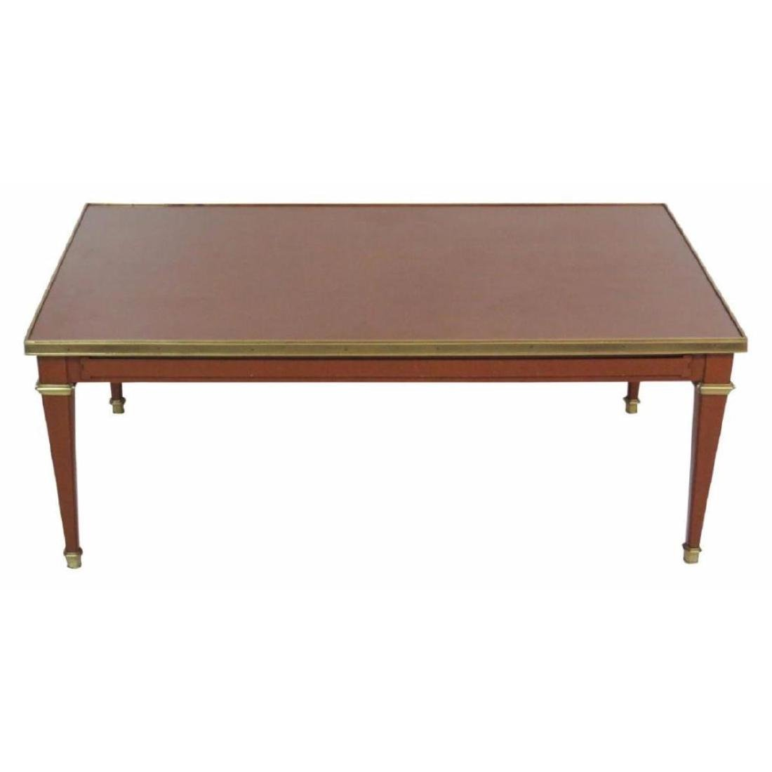 Jansen Style Louis Xv Style Brass Coffee Table