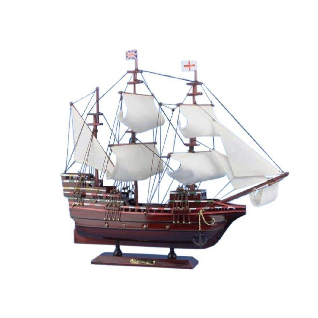"Wooden Mayflower Tall Model Ship 20"""
