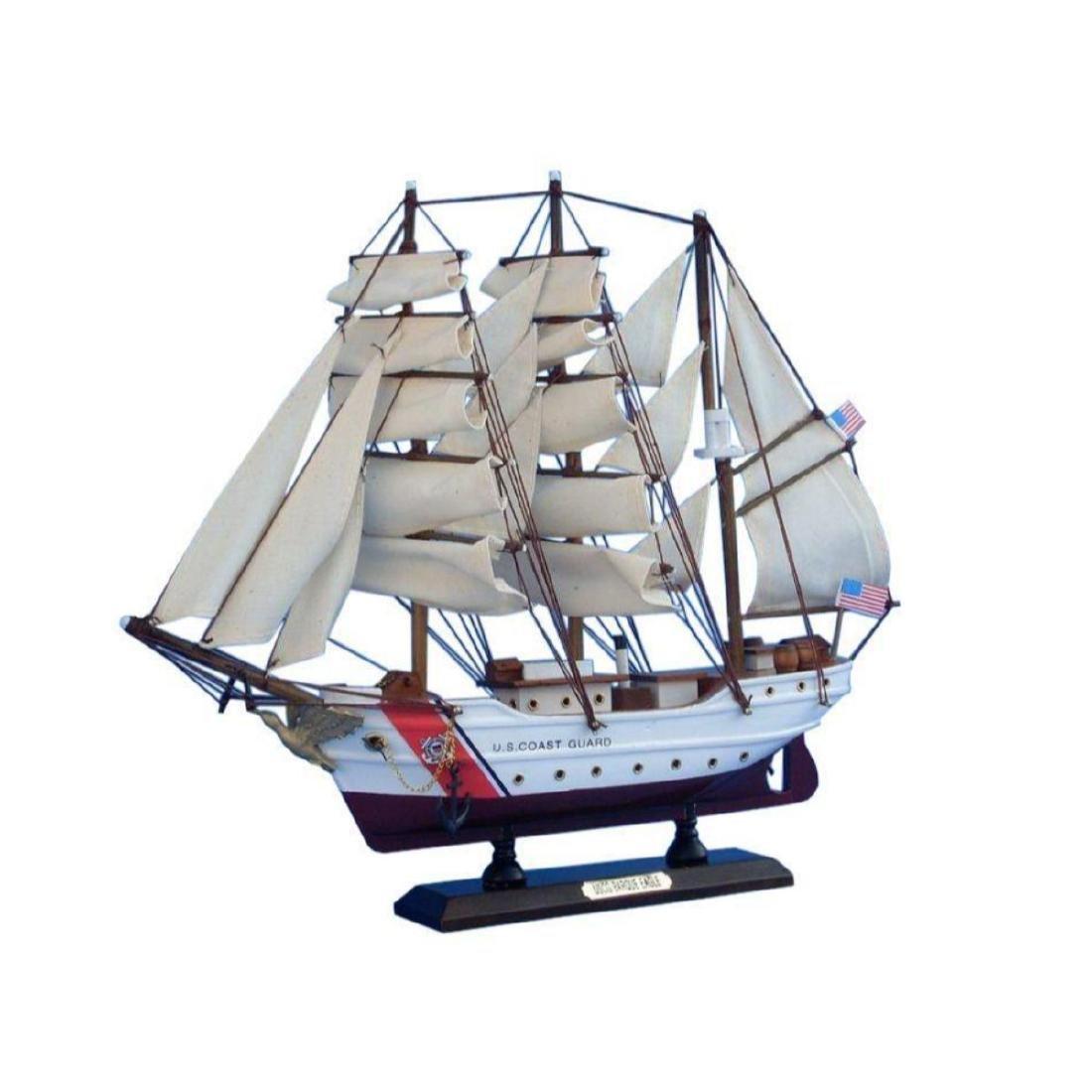 Wooden United States Coast Guard USCG Eagle Model Ship