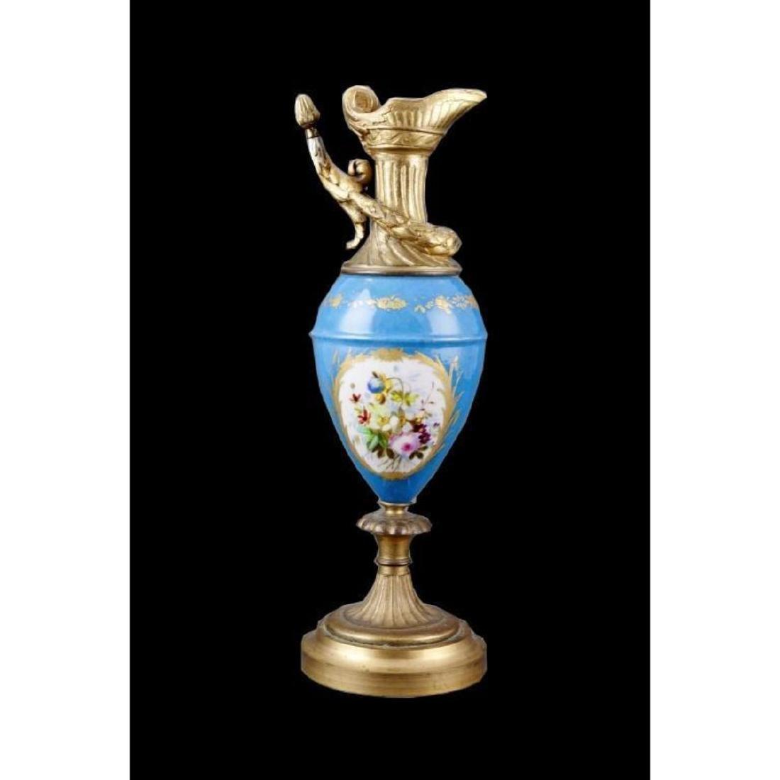 19thc Porcelain & Gilt Urn