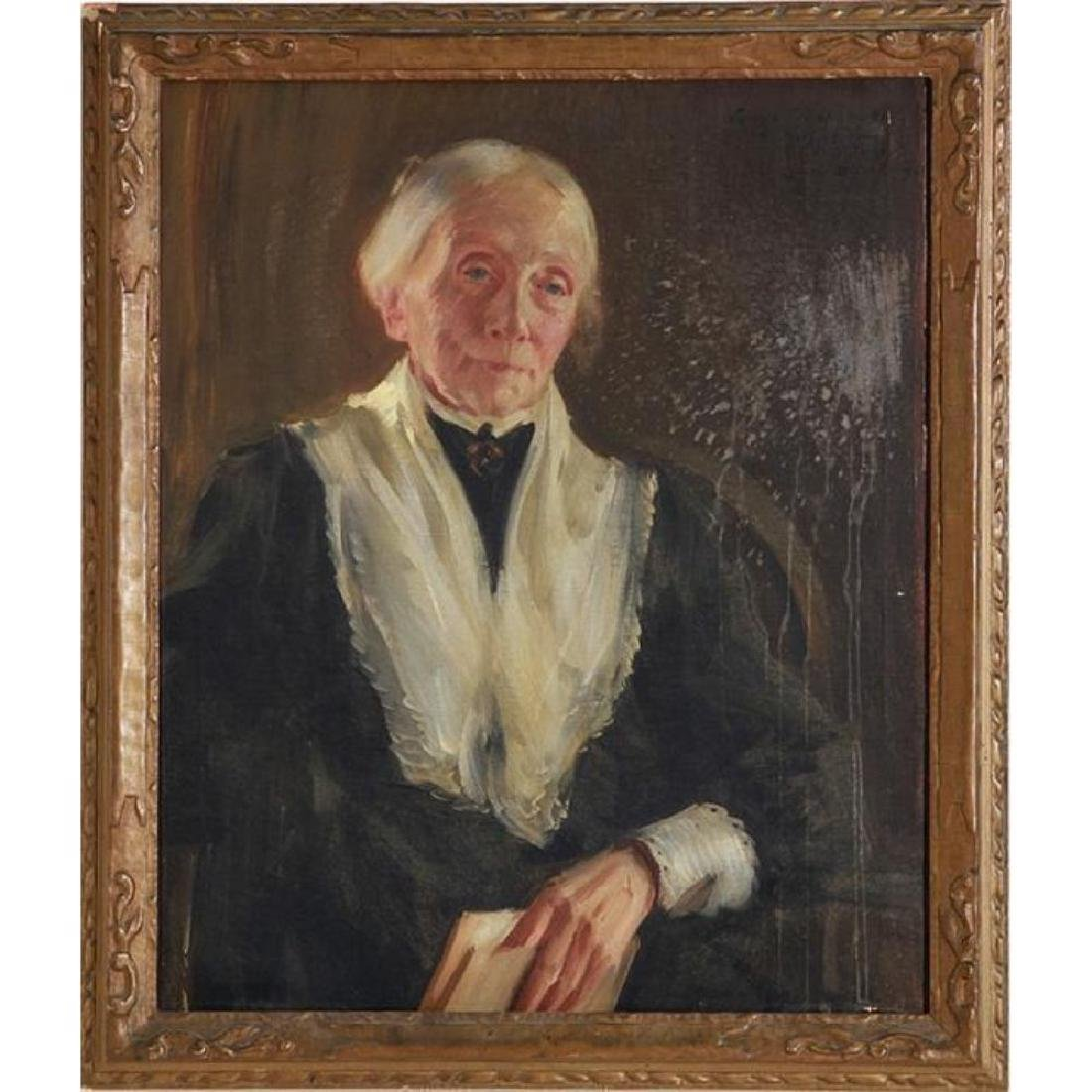 Signed Oil Painting, Southern Lady Portrait