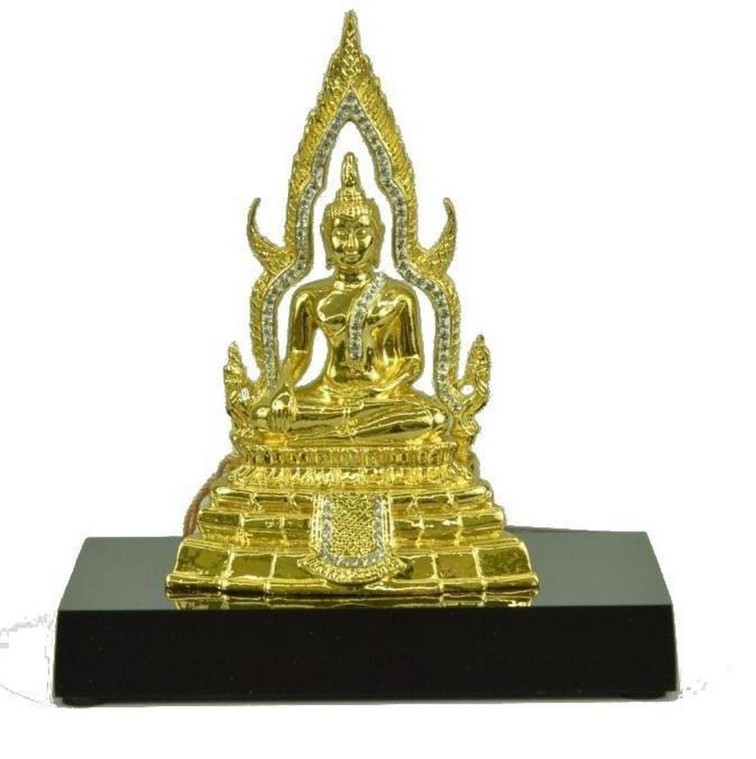 "Gold & Silver Plated Thai Buddha Bronze Sculpture 5"" x"