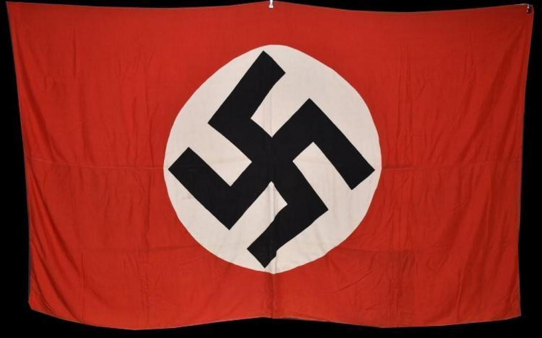 Original WWII Large Nazi German Flag Banner