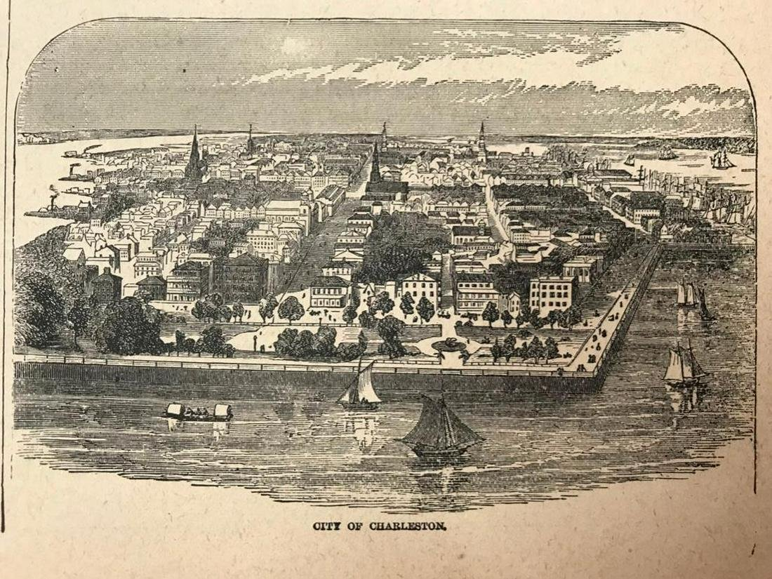 19th Century Engraving, City of Charelston South