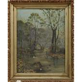 """Southern School, """"King Fisher In A Swamp Landscape,"""""""